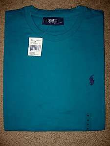 2012 COLORS NWT POLO RALPH LAUREN T SHIRT MENS PONY SHIRT DEEP AQUA