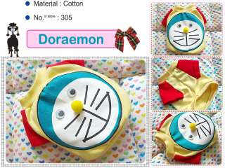 Small dog clothes,apparel doraemon costume t shirts,305