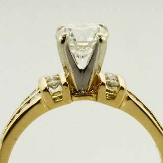 Vintage 18K Yellow White Gold Diamond Engagement Ring