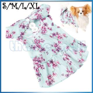 Pet Dog Puppy Doggie Floral Sleeveless Dress Clothes Clothing Apparel
