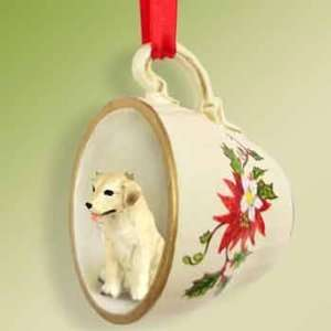 Labrador Retriever Yellow Lab Tea Cup Ornament