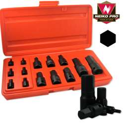 MM METRIC SIZE HEX ALLEN BIT SOCKET DRIVE TOOL SET FOR WRENCH