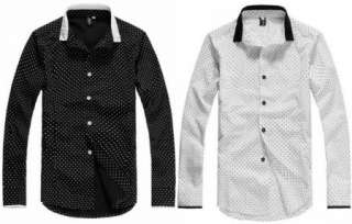 2012 New Mens Luxury Stylish Casual Dress Slim Fit Shirts C24