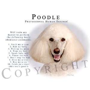Poodle CREAM Human Trainer Mouse Pad Dog Mousepad