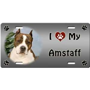 My American Staffordshire Terrier License Plate