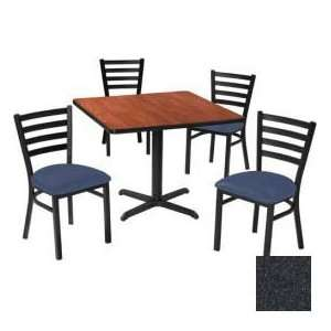 42 Square Table & Ladder Back Chair Set, Graphite Nebula