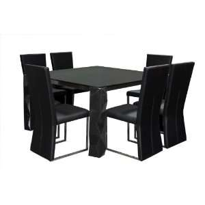 54 Inch Square Glass Top Dining Table 0752CB/127 7PC