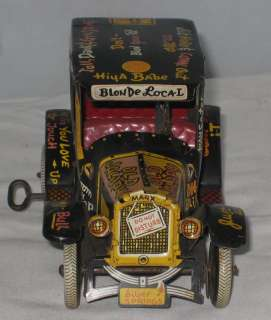 MARX TIN LITHO OLD JALOPY WIND UP TOY CAR 7 1/4 LONG