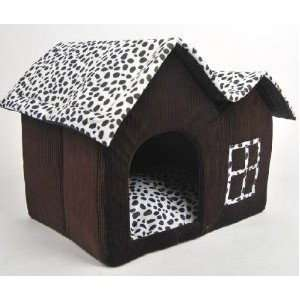 Shipping Free  Luxury High end Double Pet House/brown Dog Room