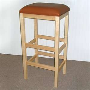 American Bar Square Bench Commercial Grade Bar Stool