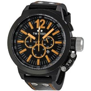 TW Steel Mens CE1030 CEO Canteen Black Leather Chronograph Dial Watch