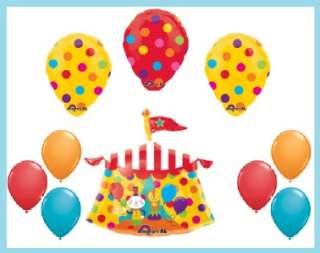 CLOWN CIRCUS party supplies birthday polka dots BALLOON