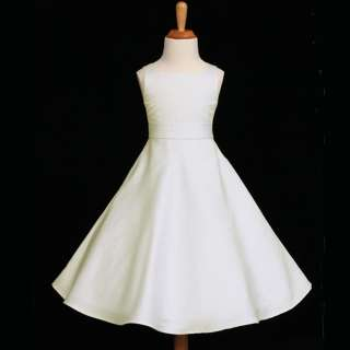 LINE WEDDING FORMAL PARTY FLOWER GIRL DRESS 12 18M 2 4 6 8 10 12 14 16