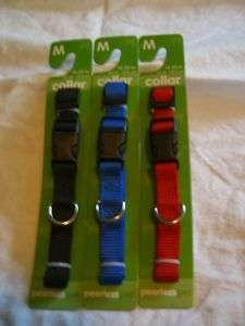 Nylon Dog Collars   Sm, Med, Lg   Red, Blue, Black