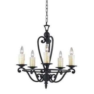Hampton Bay Empire Collection Weathered Forged Iron Finish 5 Light