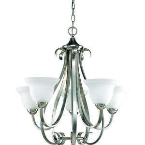 Progress Lighting Torino Collection Brushed Nickel 5 Light Chandelier
