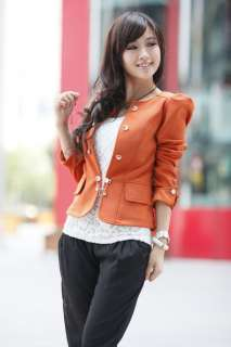2012 New Fashion Women Slim fit Business Puff Sleeves Suit Blazer