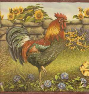 ITS JOHN DEERE COUNTRY CHICKEN FAMILY Wallpaper Wall bordeR