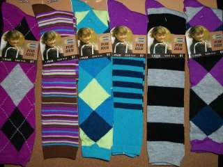 Pair Womens Argyle knee high Sock Size 9   11 NWT 701953104189