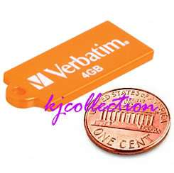 Verbatim 4GB 4G USB Flash Drive Mini Slim ORANGE Micro