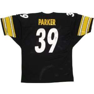 Willie Parker Autographed Black Custom Jersey Sports