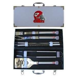 Kansas City Chiefs NFL 8pc. BBQ Set w/Case  Sports