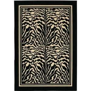 /5831 27 x 710 Black / White Runner Area Rug Furniture & Decor