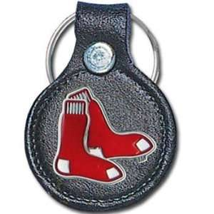 Boston Red Sox MLB Round Leather Key Chain Sports