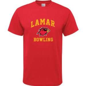 Lamar Cardinals Red Youth Bowling Arch T Shirt  Sports