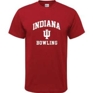 Hoosiers Cardinal Red Youth Bowling Arch T Shirt