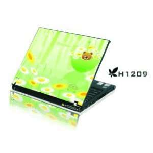15.4 Laptop Notebook Skins Sticker Cover H1209 Bear on Lotus (Brand