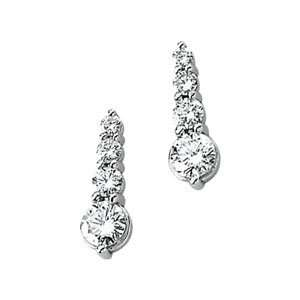 Gold Pair 7/8 Cttw;P;Diamond Earring Journey Diamond Earring Jewelry