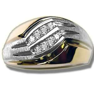 .24 ct Diamond Two/Tone Mens Ring Jewelry