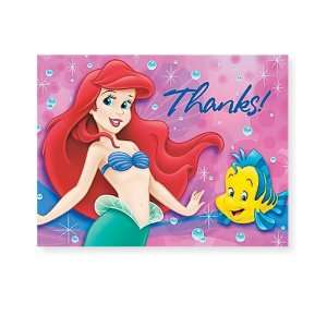 Party By Hallmark Disney The Little Mermaid Thank You Cards (8 count