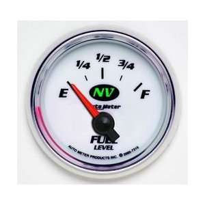 Auto Meter NV Series Analog Gauges Gauge, NV, Fuel Level, Empty/ Full