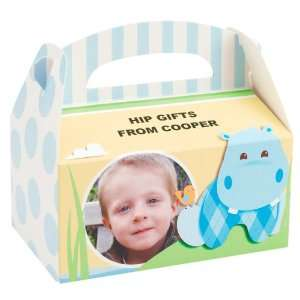 Hippo Blue Personalized Empty Favor Boxes (8) Toys & Games