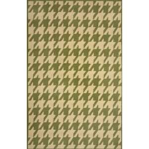Sawgrass Mills Houndstooth Pesto Rug   Medium 5x8
