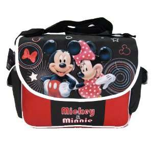 Disney Mickey & Minnie Mouse Messenger Bag  Black & Red