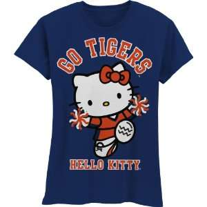 Tigers Hello Kitty Pom Pom Girls Crew Tee Shirt