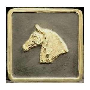 Mayer Mill Brass Horse Head Trailer Hitch Cover