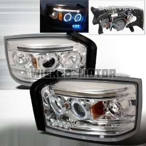 05 07 Dodge Dakota Projector Headlights   Chrome Blue Lens Automotive