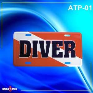 Diver Embossed Aluminum License Plate