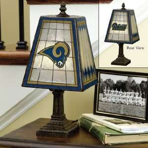 ST. LOUIS RAMS Team Logo Hand Painted ART GLASS TABLE LAMP