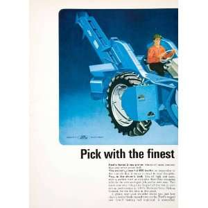 1964 Ad Ford Tractor Farming Equipment Machine Agriculture