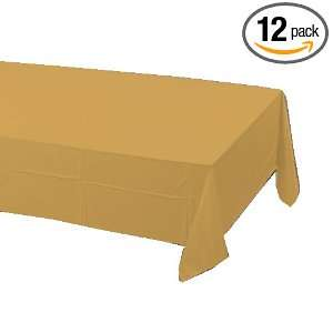 Creative Converting Plastic Table cover, 54 x 108, Glittering Gold