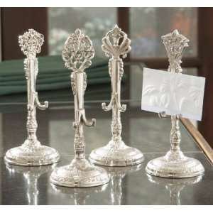 Pack of 24 Silver Finial Wedding Place Card Holders