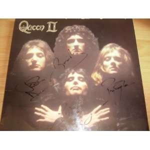 Autographed Queen II Record Album Cover Sleeve (no vinyl) Hand Signed