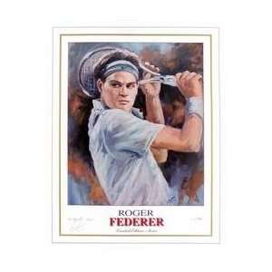 Roger Federer Litho Sports Collectibles