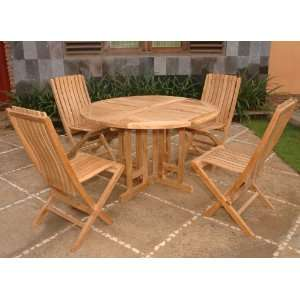 Round Butterfly Folding Table Patio Dining Set Patio, Lawn & Garden