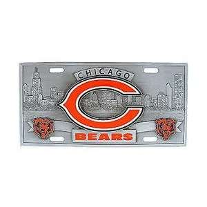 Chicago Bears   3D NFL License Plate